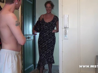 French aged Teacher 1st time casting